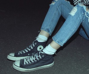 grunge, converse, and jeans image