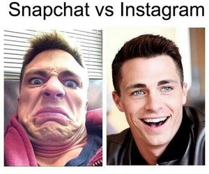 instagram, colton haynes, and snapchat image