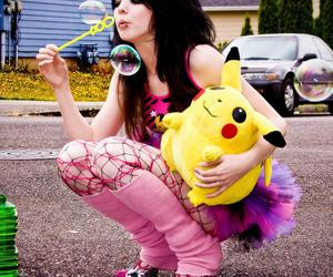 emo, pikachu, and pink image