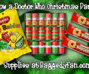 christmas, doctor who merchandise, and Christmas party image