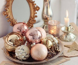 christmas, pink, and winter image