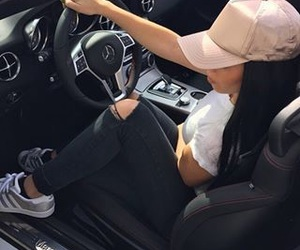 girl, car, and style image