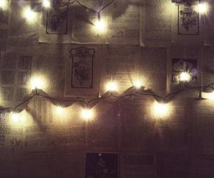 grunge, string lights, and alternative image