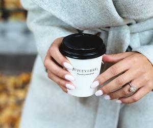 fashion, nails, and coffee image