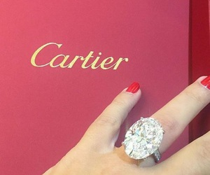 diamond, ring, and cartier image