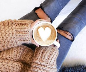 coffee, girl, and style image