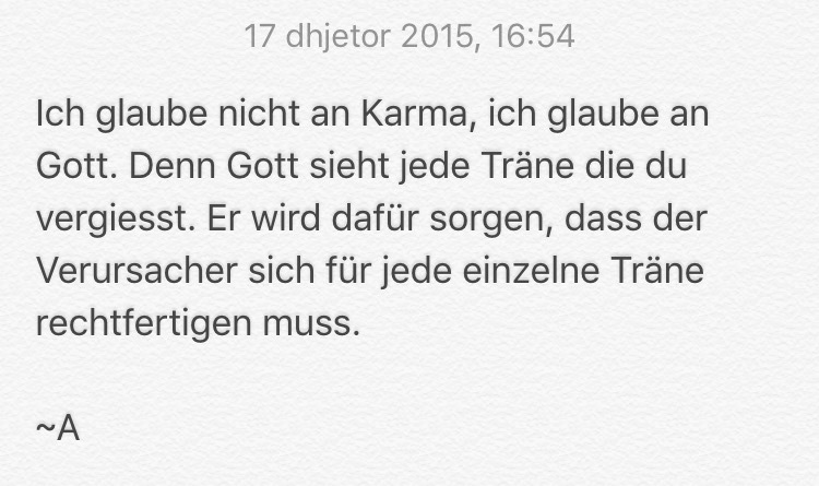 Vergiss Karma Shared By At Quotesfroma On We Heart It