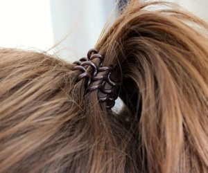 brown, hair accessories, and invisibobble image