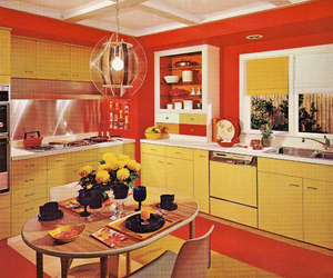 60s, orange, and decor image