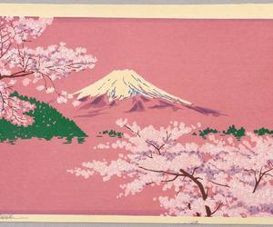 art, pink, and japan image