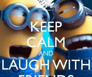 keep calm, minions, and quotes image