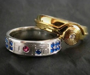 star wars, r2d2, and ring image