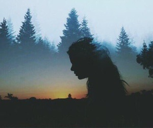 girl, art, and nature image