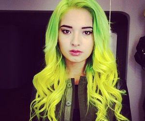 hair, yellow, and green image