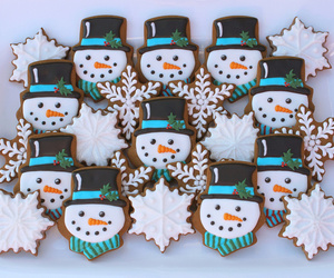 Cookies, icing, and merry christmas image