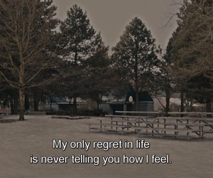 quote, life, and regret image