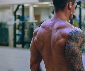 boy, muscles, and tattoo image
