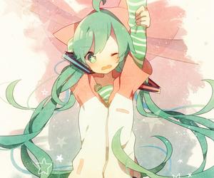 anime and hatsune miku image