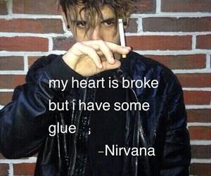 broken, glue, and heart image