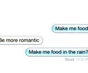 funny, food, and rain image