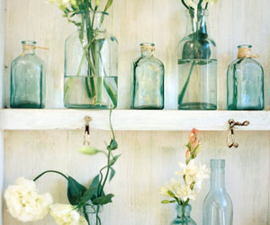 bottles, spring, and flowers image