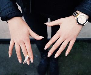 nails, smoke, and watch image