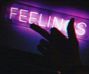 feelings, neon, and stupid image