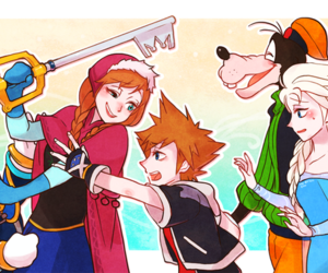 frozen and kingdom hearts image