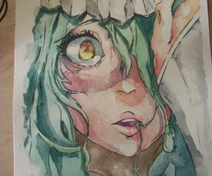 watercolor and bleach drawing image