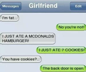 girlfriend, fat, and funny image