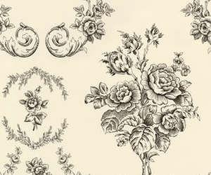 pattern, rose, and vintage image