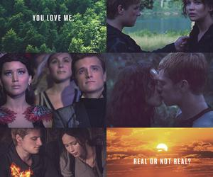 peeta mellark, everlark, and katniss everdeen image