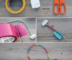 diy, iphone, and charger image