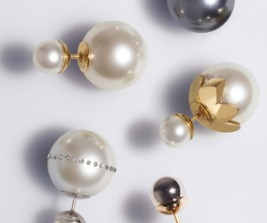 earrings, gold, and pearls image