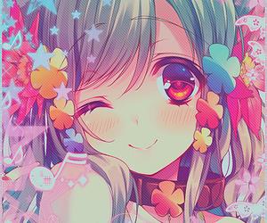anime girl, beautiful, and colorful image