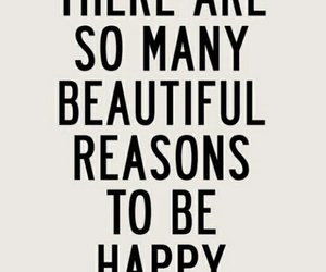 happy, beautiful, and quote image