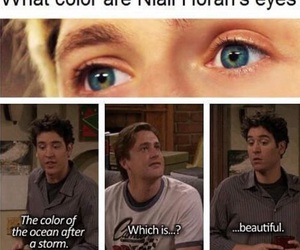 niall horan, one direction, and eyes image