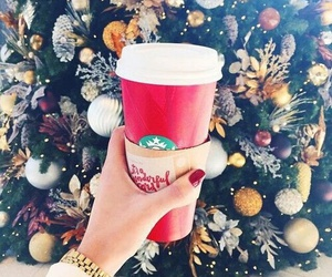 starbucks and winter image