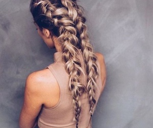 blonde, love, and braids image