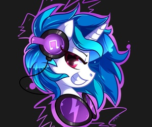 MLP and vinyl scratch image