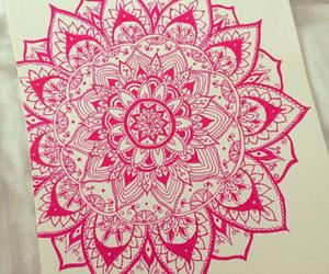 mandala, pink, and art image