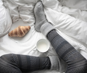 winter socks milk image