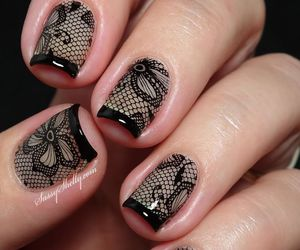 nails, art, and lace image