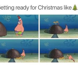 christmas, funny, and patrick image