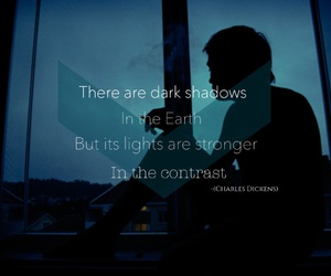 blu, lights, and quotes image