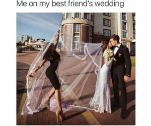 wedding, funny, and best friends image