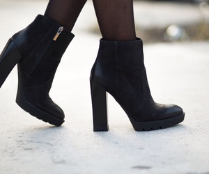 black, shoes, and love image