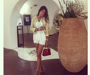 bag, beautiful girl, and white style image