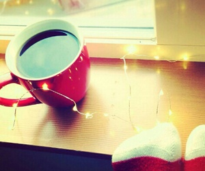 coffee, christmas, and starbucks image