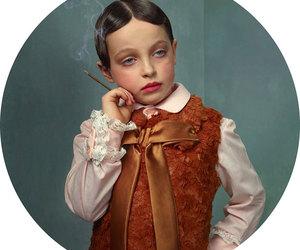 art, baby, and smoking image
